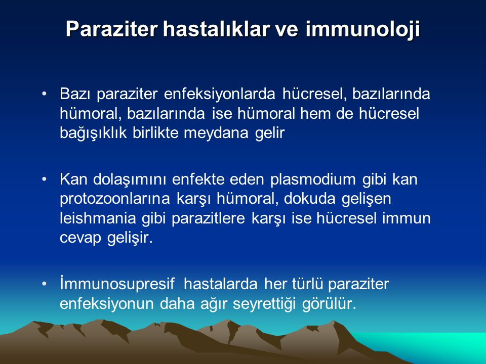 Paraziter hastalıklar ve immunoloji
