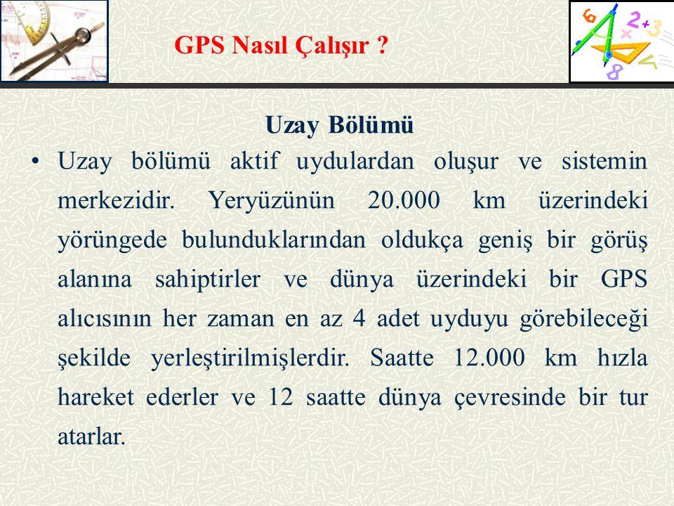 GPS Nasıl Çalışır Uzay Bölümü.