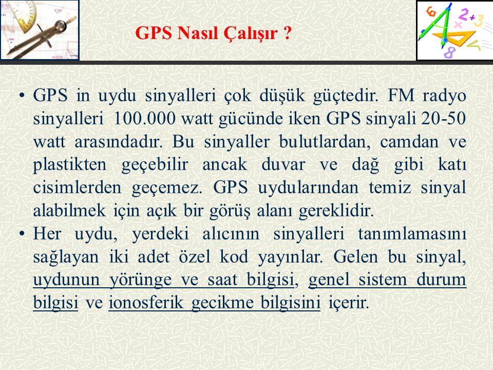 GPS Nasıl Çalışır