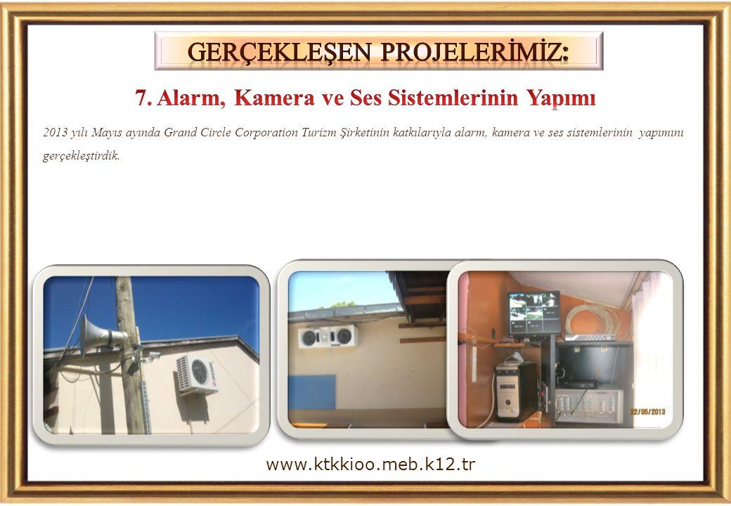 7. Alarm, Kamera ve Ses Sistemlerinin Yapımı