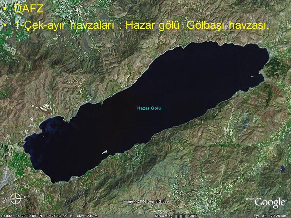 1-Çek-ayır havzaları : Hazar gölü Gölbaşı havzası,