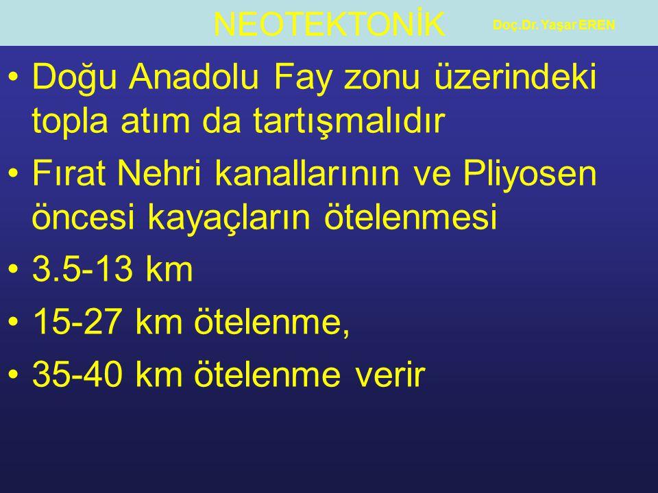 Doğu Anadolu Fay zonu üzerindeki topla atım da tartışmalıdır