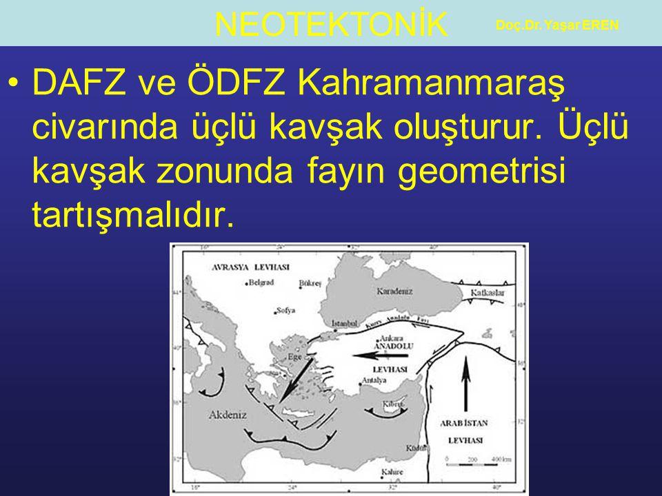 Doç.Dr. Yaşar EREN DAFZ ve ÖDFZ Kahramanmaraş civarında üçlü kavşak oluşturur.