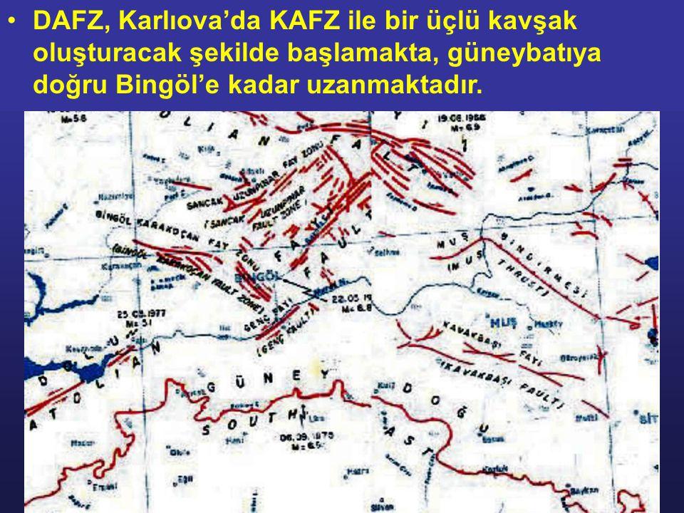 DAFZ, Karlıova'da KAFZ ile bir üçlü kavşak oluşturacak şekilde başlamakta, güneybatıya doğru Bingöl'e kadar uzanmaktadır.