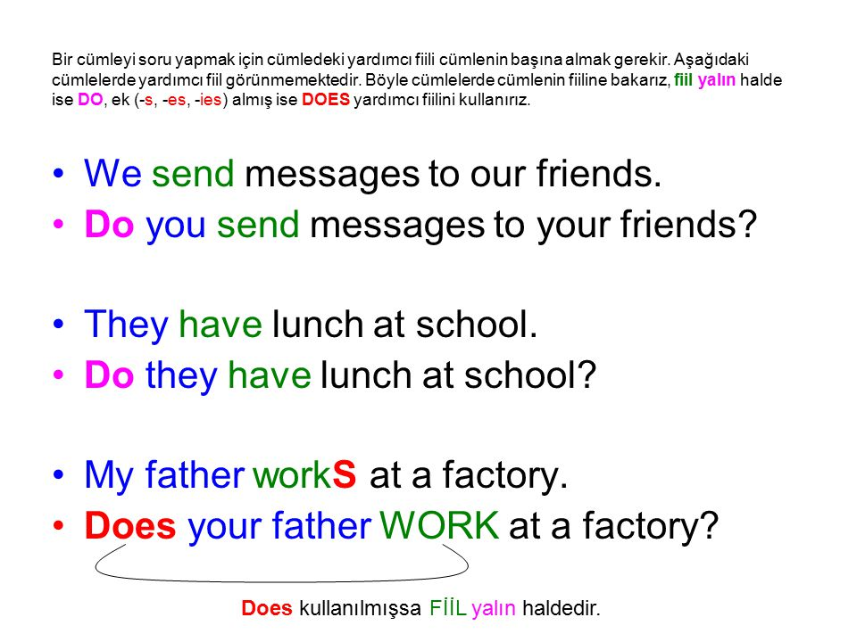 We send messages to our friends. Do you send messages to your friends