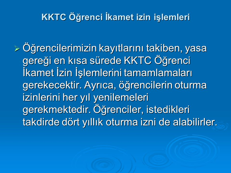 KKTC Öğrenci İkamet izin işlemleri