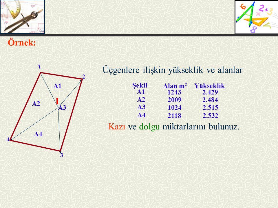 Üçgenlere ilişkin yükseklik ve alanlar