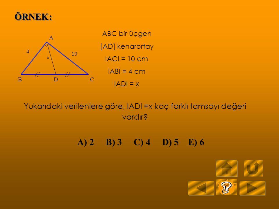 Yukarıdaki verilenlere göre, IADI =x kaç farklı tamsayı değeri vardır
