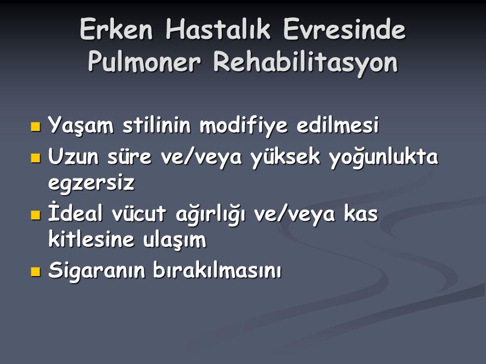 Erken Hastalık Evresinde Pulmoner Rehabilitasyon
