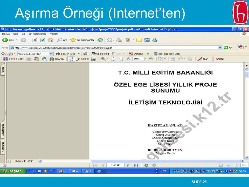 Aşırma Örneği (Internet'ten)
