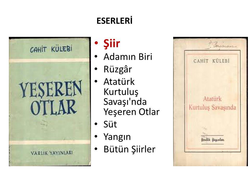 Şiir Adamın Biri Rüzgâr Atatürk Kurtuluş Savaşı nda Yeşeren Otlar Süt