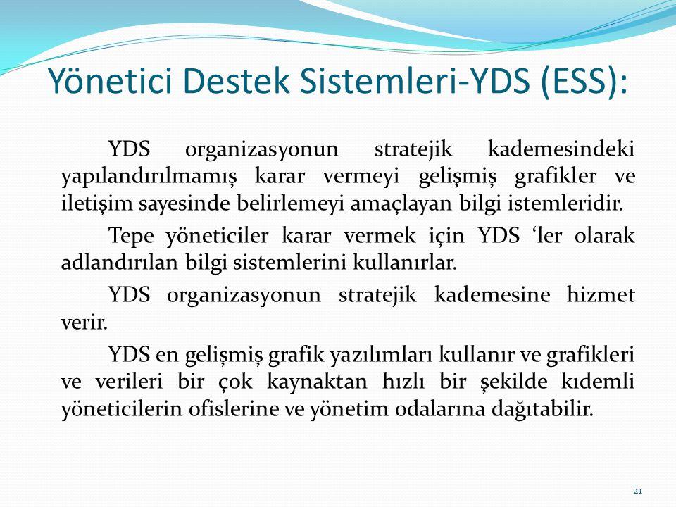 Yönetici Destek Sistemleri-YDS (ESS):