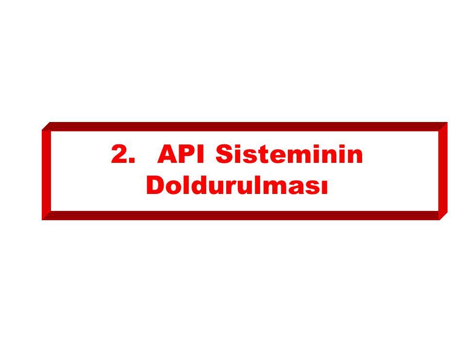 2. API Sisteminin Doldurulması