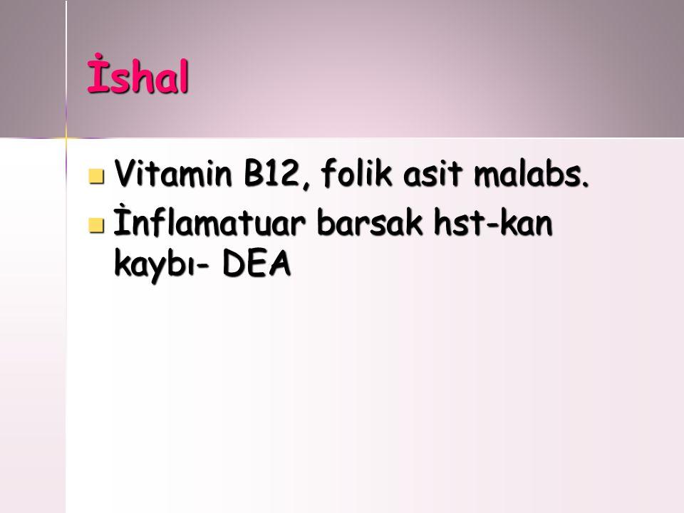 İshal Vitamin B12, folik asit malabs.