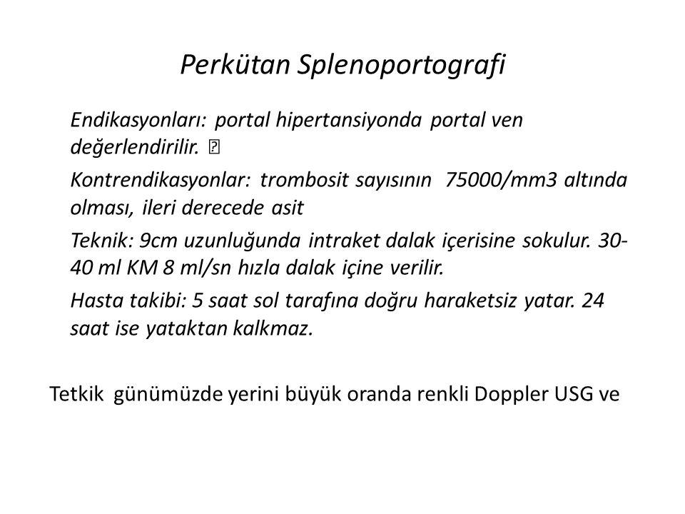 Perkütan Splenoportografi