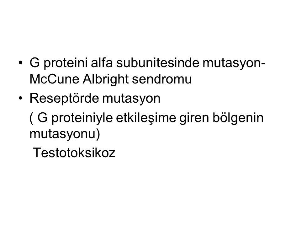 G proteini alfa subunitesinde mutasyon- McCune Albright sendromu