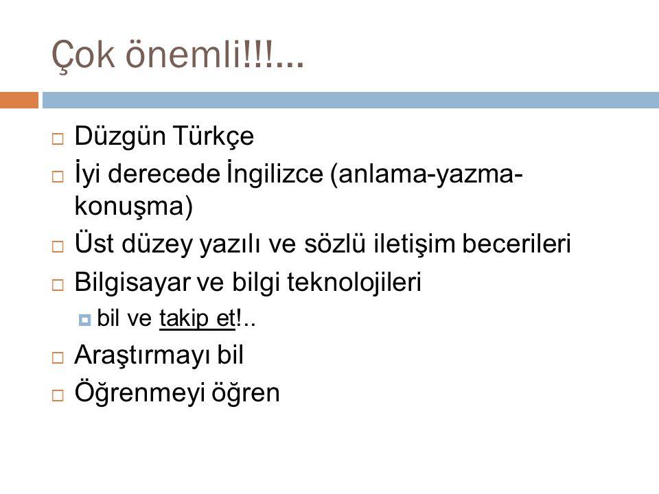 Çok önemli!!!... Düzgün Türkçe