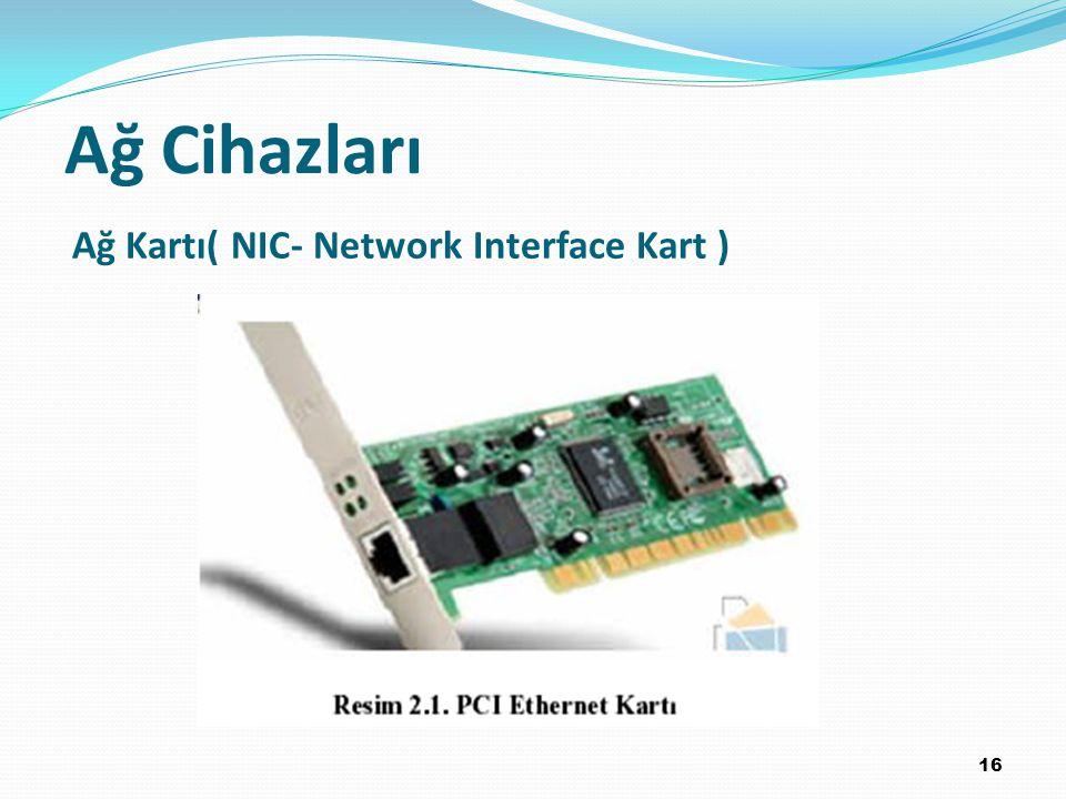 Ağ Cihazları Ağ Kartı( NIC- Network Interface Kart ) 16