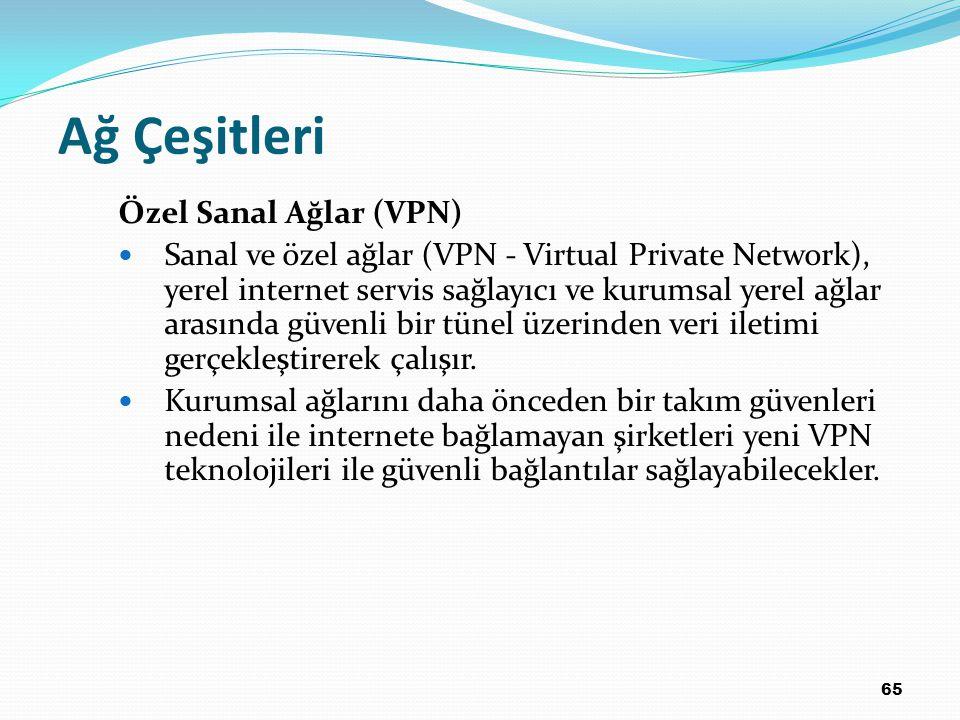 Ağ Çeşitleri Özel Sanal Ağlar (VPN)