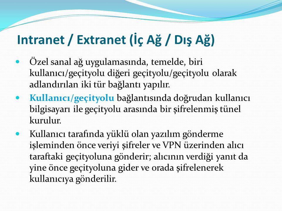 Intranet / Extranet (İç Ağ / Dış Ağ)