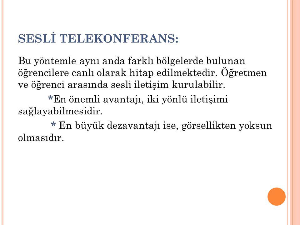 SESLİ TELEKONFERANS: