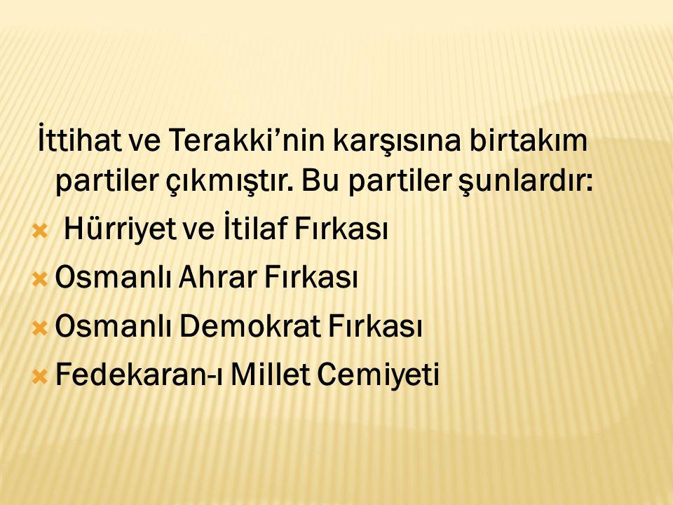 Hürriyet ve İtilaf Fırkası Osmanlı Ahrar Fırkası