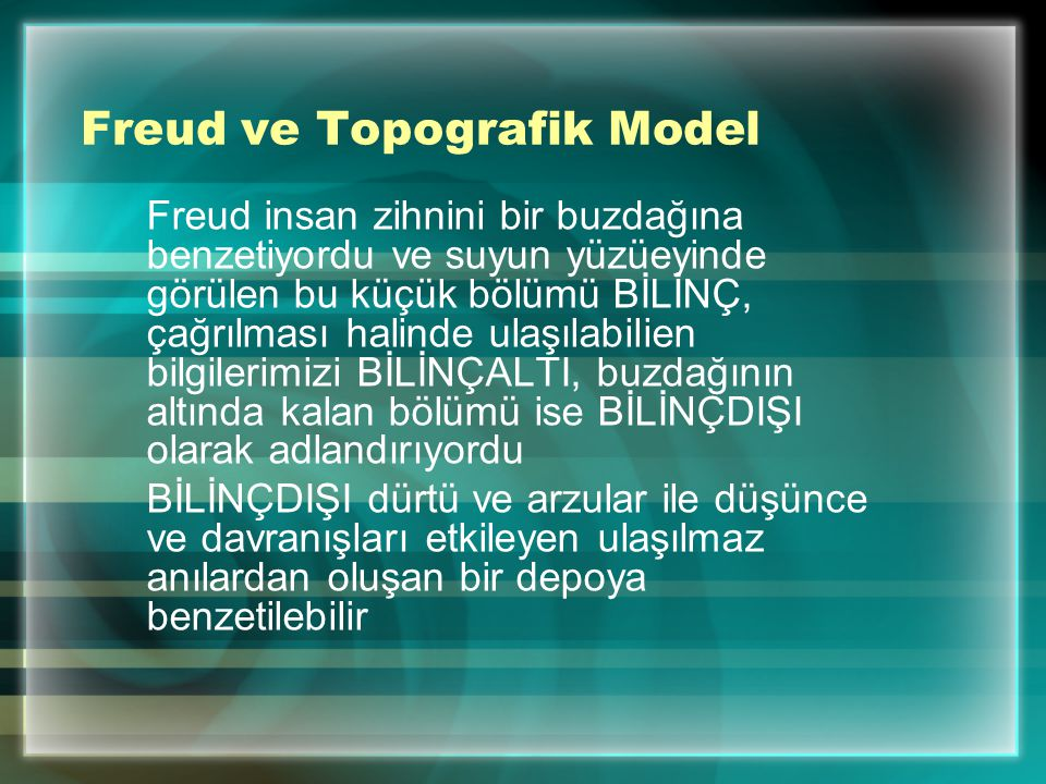 Freud ve Topografik Model