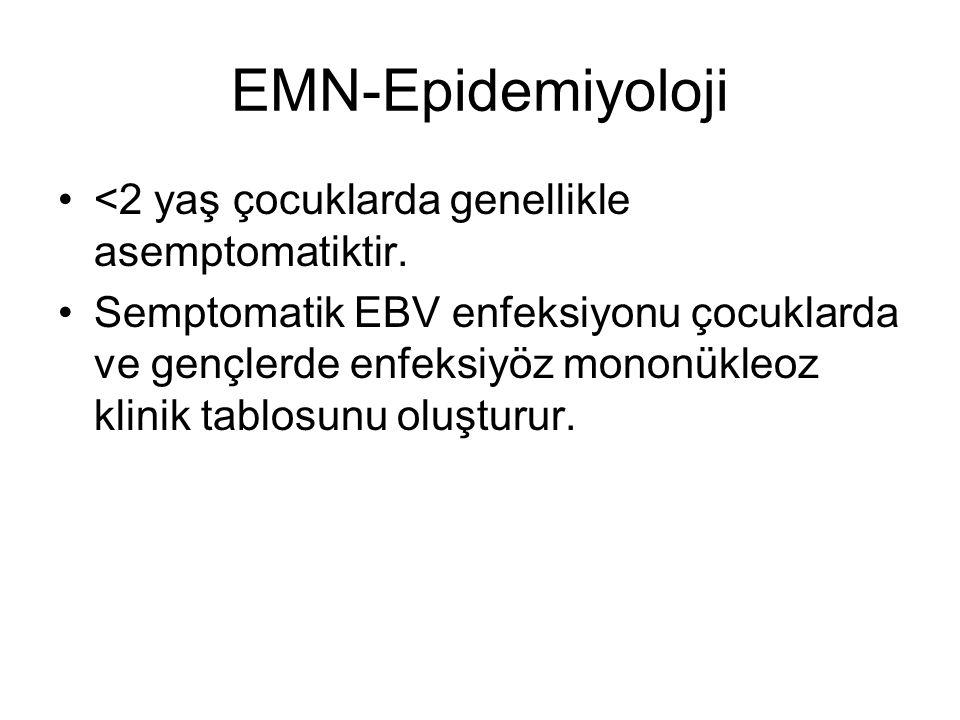 EMN-Epidemiyoloji <2 yaş çocuklarda genellikle asemptomatiktir.