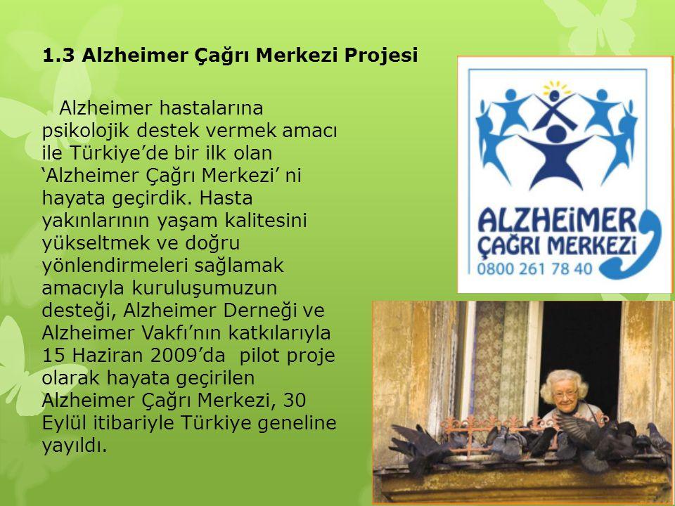 1.3 Alzheimer Çağrı Merkezi Projesi