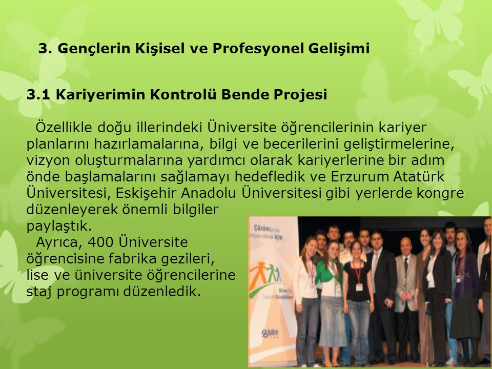 3. Gençlerin Kişisel ve Profesyonel Gelişimi