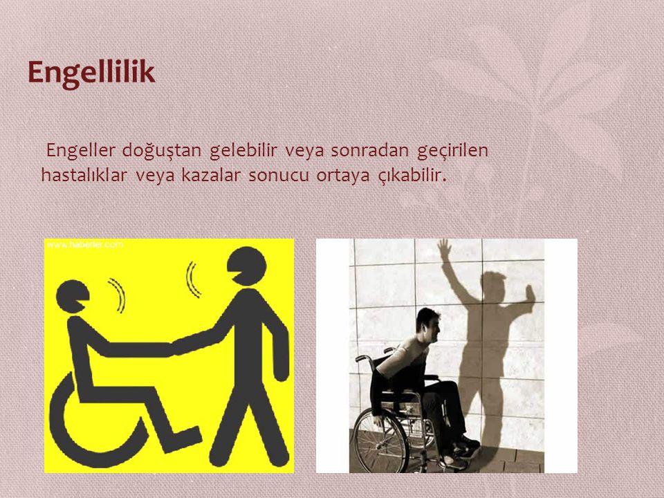 Engellilik Engeller doğuştan gelebilir veya sonradan geçirilen hastalıklar veya kazalar sonucu ortaya çıkabilir.