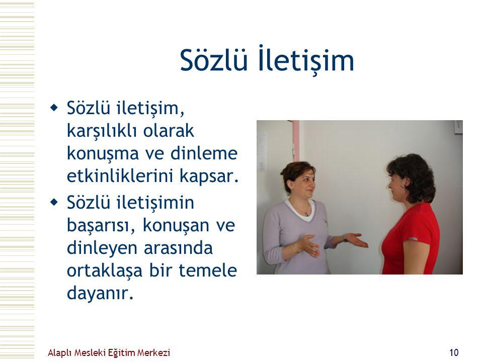 Sözlü İletişim Sözlü iletişim, karşılıklı olarak konuşma ve dinleme etkinliklerini kapsar.
