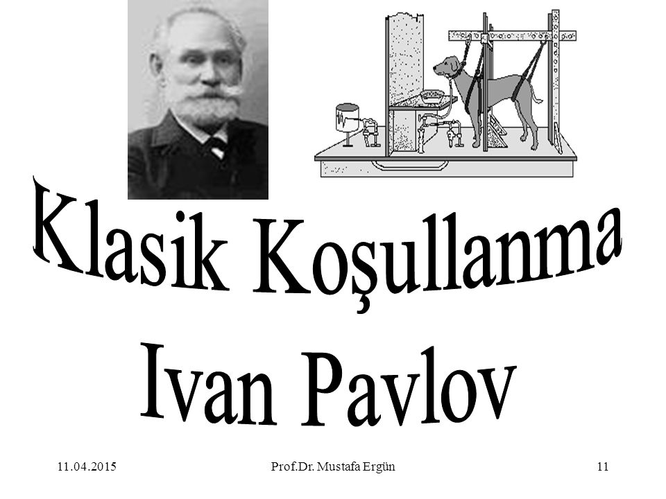Klasik Koşullanma Ivan Pavlov 11.04.2017 Prof.Dr. Mustafa Ergün