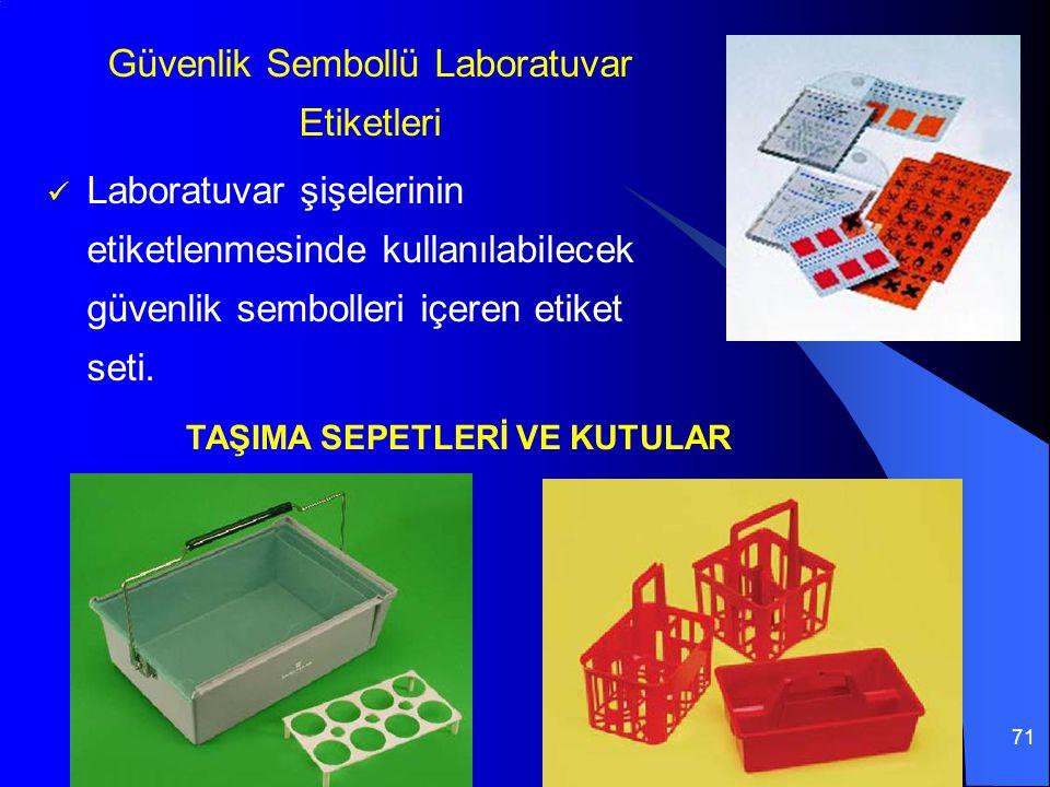 Güvenlik Sembollü Laboratuvar Etiketleri
