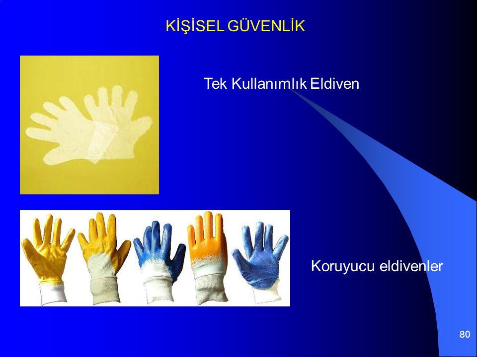KİŞİSEL GÜVENLİK Tek Kullanımlık Eldiven Koruyucu eldivenler