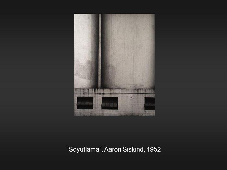 Soyutlama , Aaron Siskind, 1952