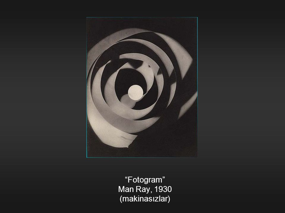 Fotogram Man Ray, 1930 (makinasızlar)