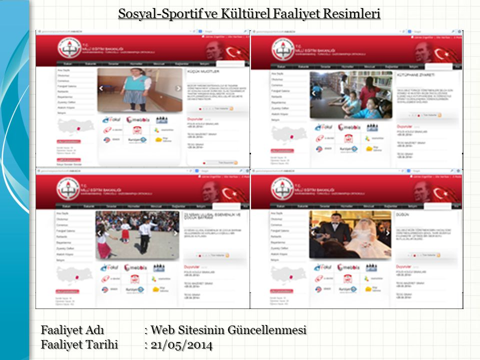 Sosyal-Sportif ve Kültürel Faaliyet Resimleri