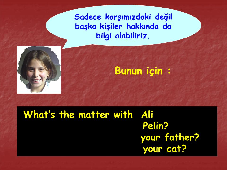 What's the matter with Ali Pelin your father your cat