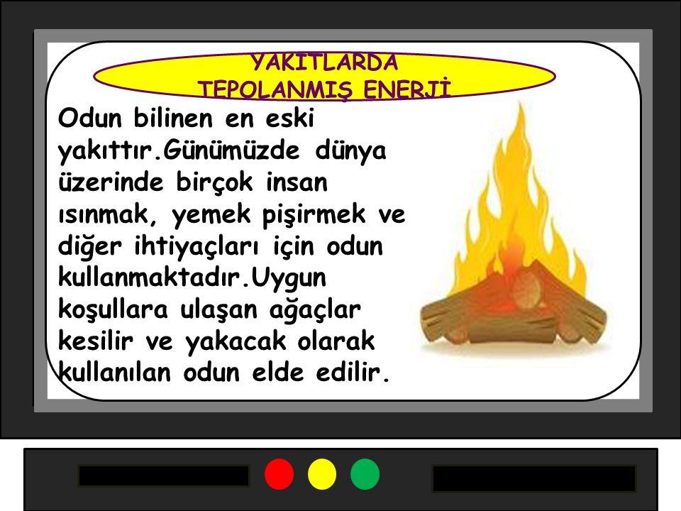 YAKITLARDA TEPOLANMIŞ ENERJİ
