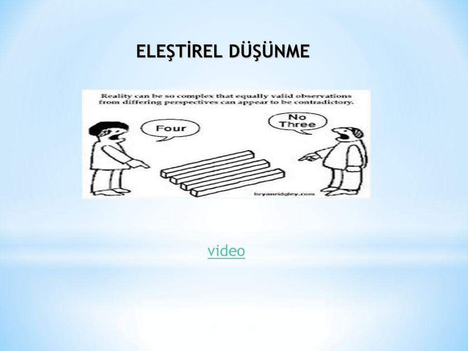ELEŞTİREL DÜŞÜNME video