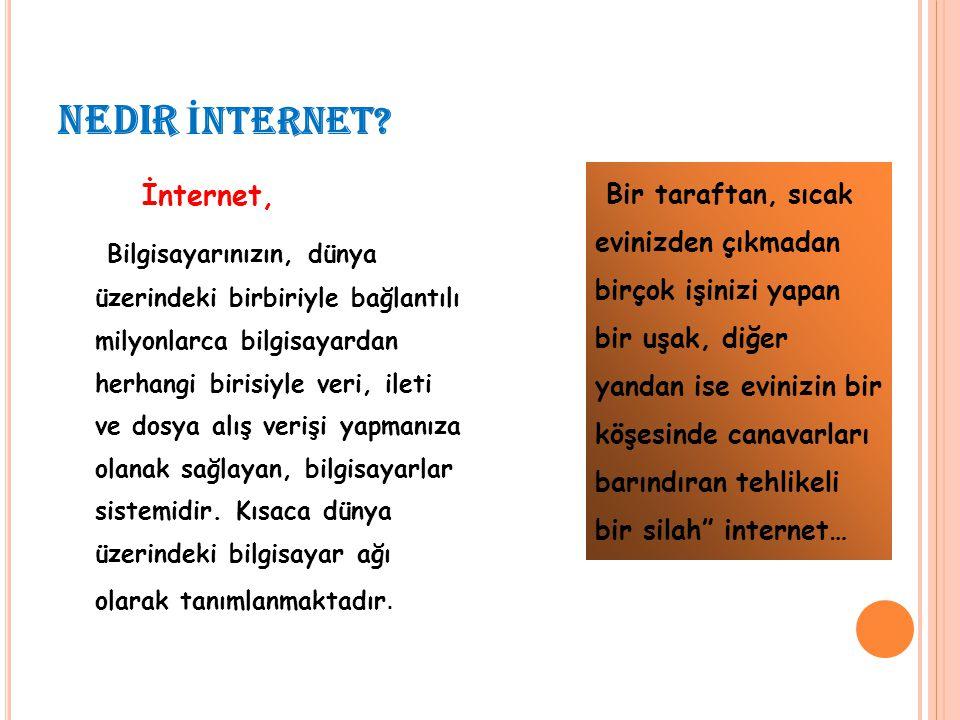 nedir İNTERNET İnternet,
