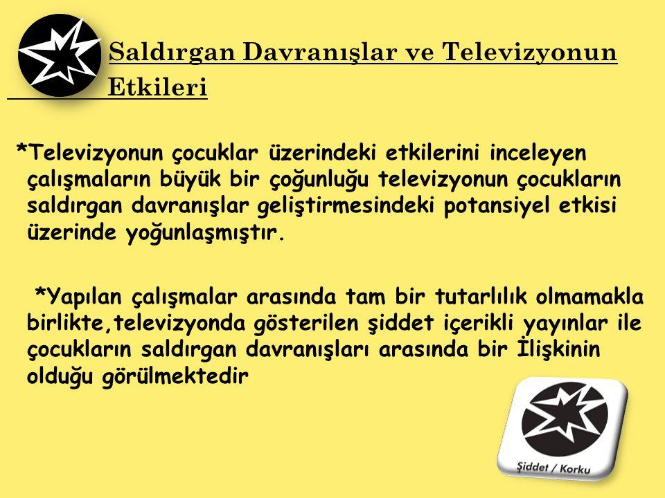 Etkileri Saldırgan Davranışlar ve Televizyonun