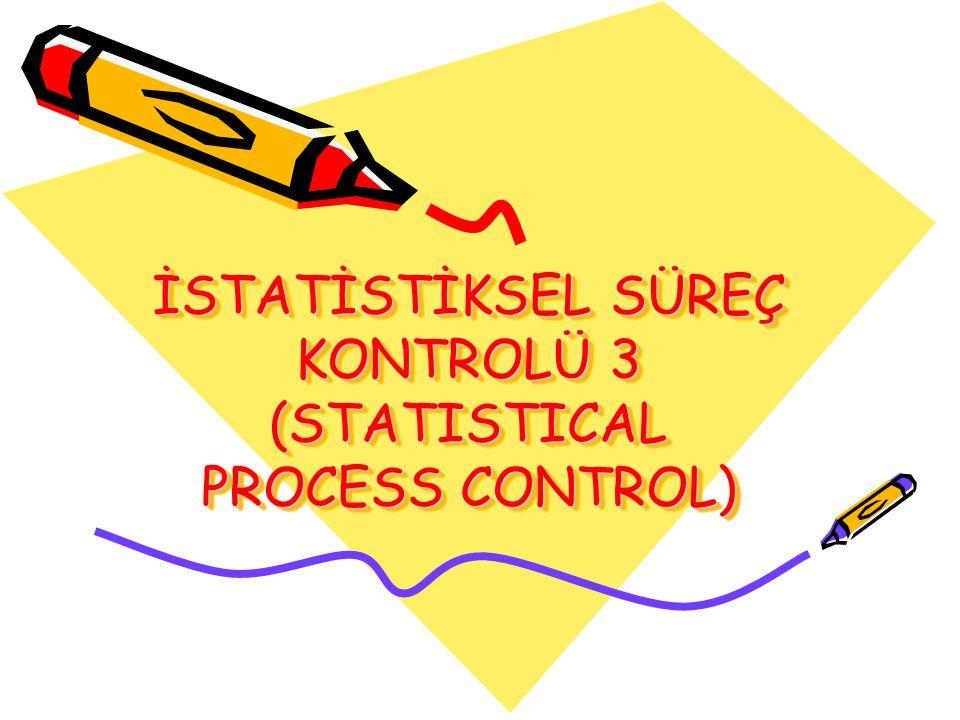 İSTATİSTİKSEL SÜREÇ KONTROLÜ 3 (STATISTICAL PROCESS CONTROL)