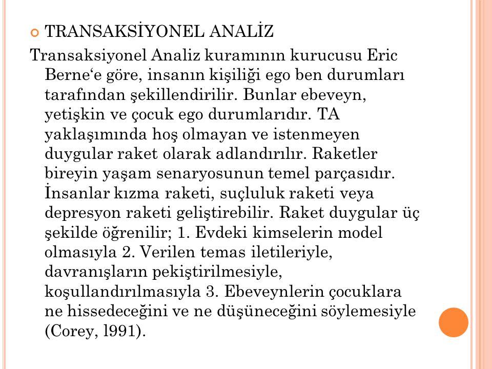 TRANSAKSİYONEL ANALİZ