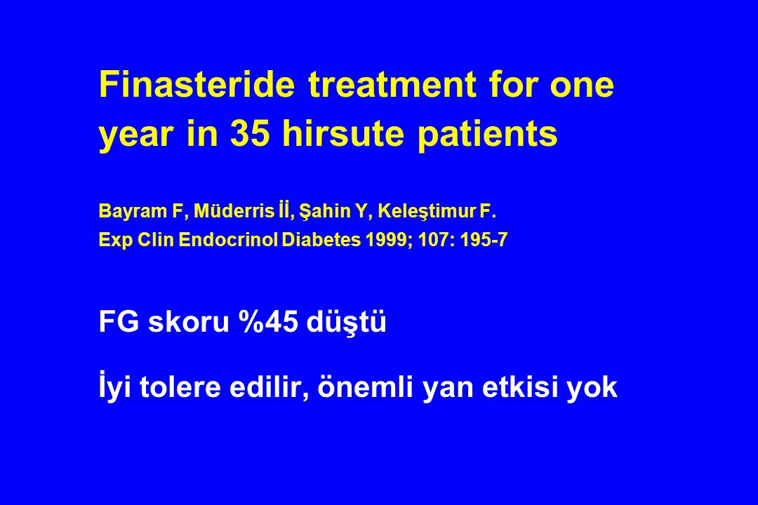 Finasteride treatment for one year in 35 hirsute patients