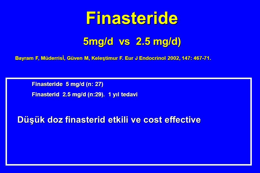 Finasteride 5mg/d vs 2.5 mg/d)