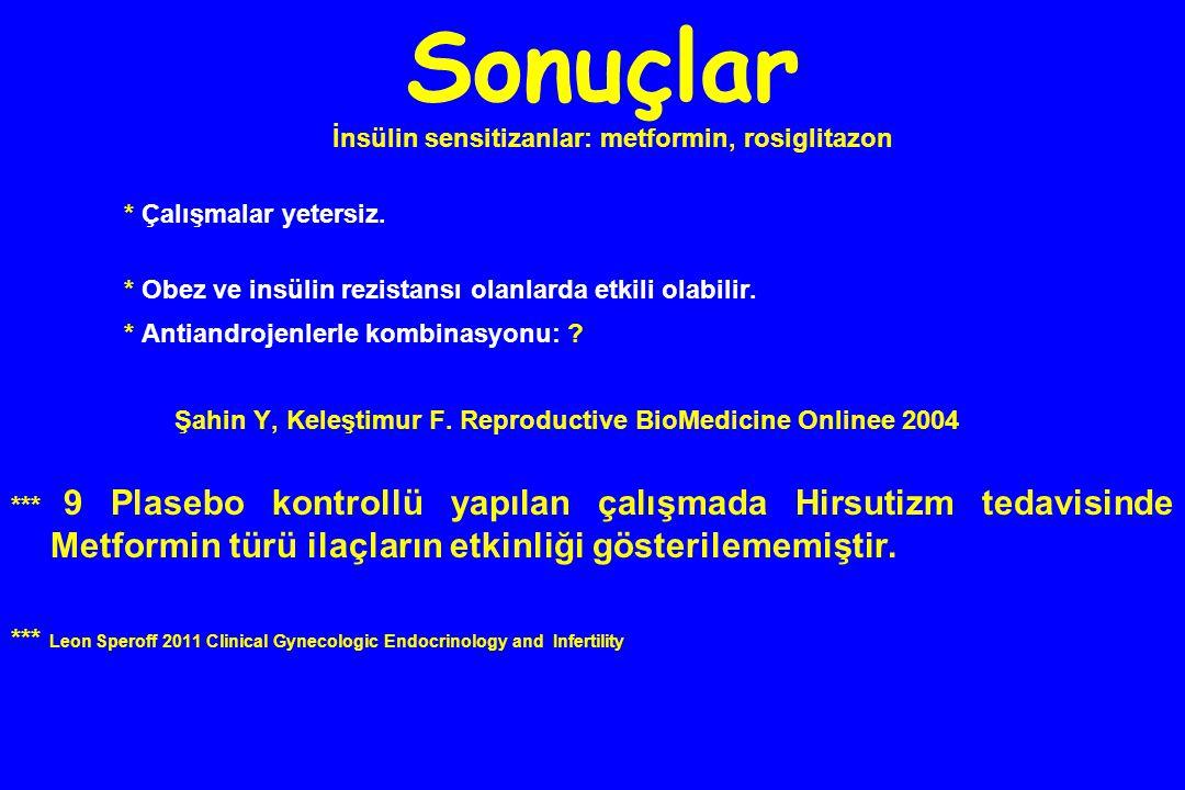 İnsülin sensitizanlar: metformin, rosiglitazon