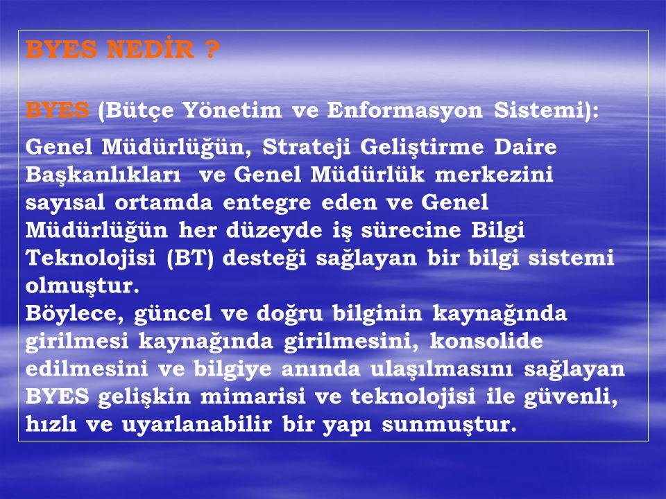 BYES NEDİR BYES (Bütçe Yönetim ve Enformasyon Sistemi):