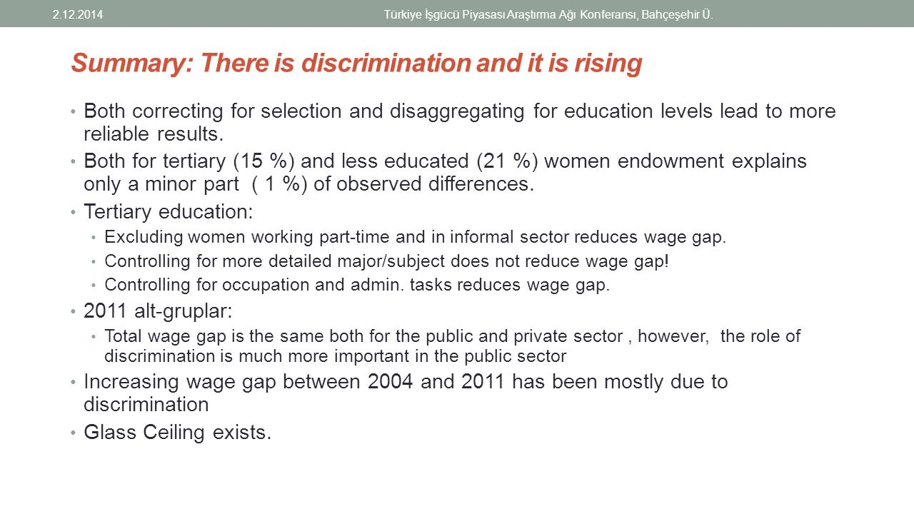Summary: There is discrimination and it is rising